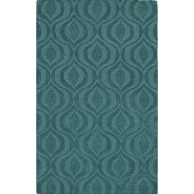 Tones Teal Area Rug Rug Size: Rectangle 9 x 13