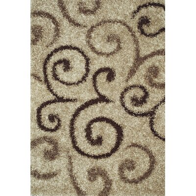 Dominque Walnut Area Rug Rug Size: 36 x 56