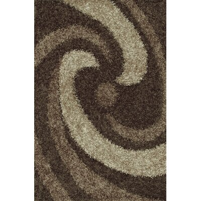Visions Taupe Area Rug Rug Size: Rectangle 9 x 13