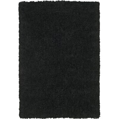 Tyreek Black Area Rug Rug Size: Rectangle 36 x 56