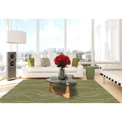 Tempo Lime Zest Area Rug Rug Size: Rectangle 53 x 77