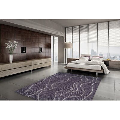 Tempo Plum Area Rug Rug Size: Rectangle 96 x 132