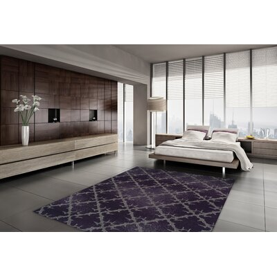 Tempo Plum Area Rug Rug Size: Rectangle 710 x 107