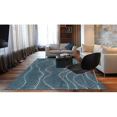 Tempo Teal Area Rug Rug Size: Rectangle 96 x 132