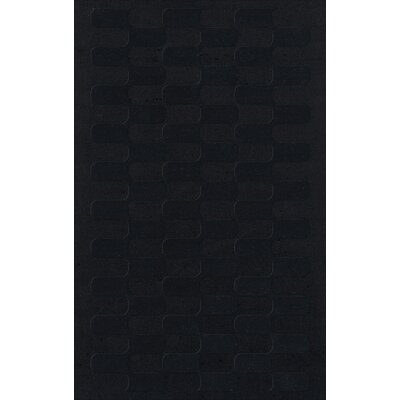 Dover Black Area Rug Rug Size: Rectangle 9 x 12