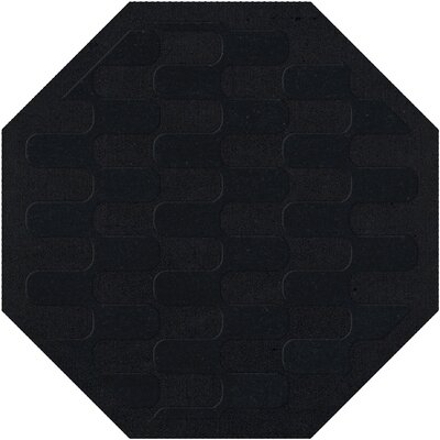Dover Black Area Rug Rug Size: Octagon 4'