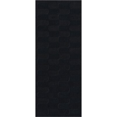 Dover Black Area Rug Rug Size: Runner 26 x 10