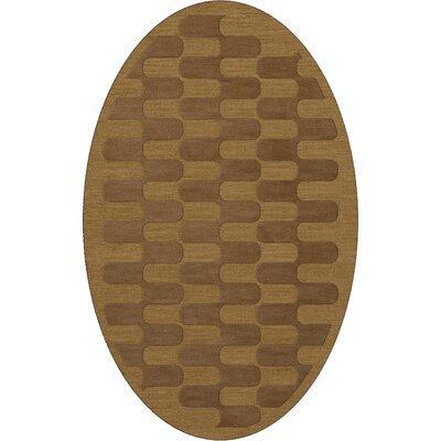 Dover Gold Dust Area Rug Rug Size: Oval 8 x 10