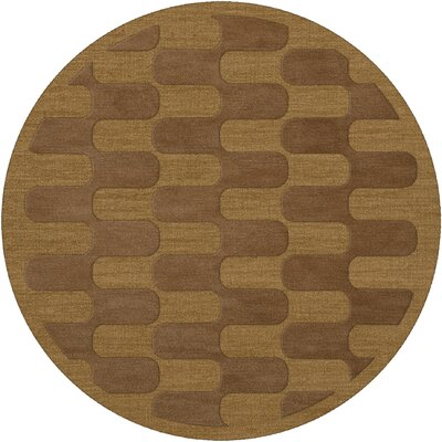 Dover Gold Dust Area Rug Rug Size: Round 6'