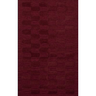 Dover Rich Red Area Rug Rug Size: Rectangle 12 x 18