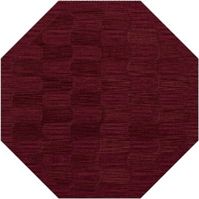 Dover Rich Red Area Rug Rug Size: Octagon 6'