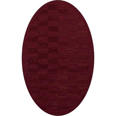 Dover Rich Red Area Rug Rug Size: Oval 6 x 9