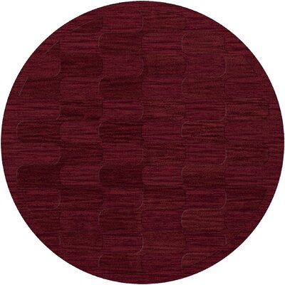 Dover Rich Red Area Rug Rug Size: Round 6