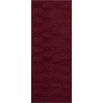 Dover Rich Red Area Rug Rug Size: Runner 26 x 10
