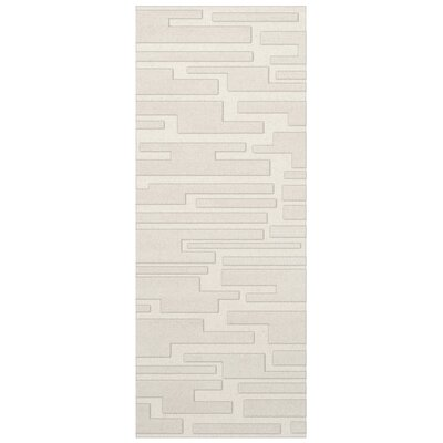 Dover Snow Area Rug Rug Size: Runner 26 x 8
