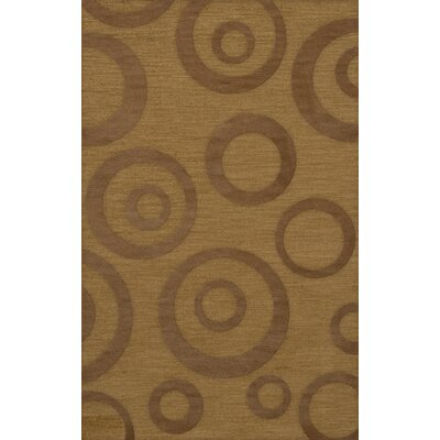 Dover Tufted Wool Gold Dust Area Rug Rug Size: Rectangle 6 x 9