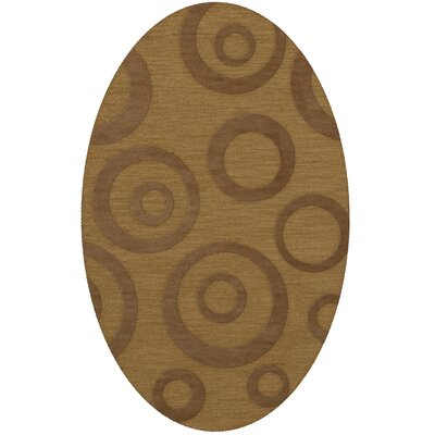 Dover Tufted Wool Gold Dust Area Rug Rug Size: Oval 5 x 8