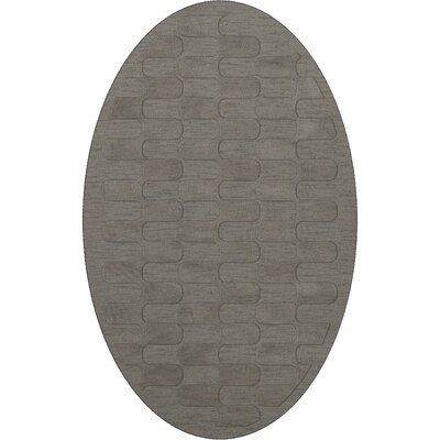 Dover Silver Area Rug Rug Size: Oval 10 x 14