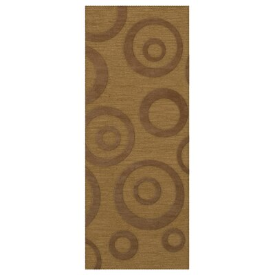 Dover Gold Dust Area Rug Rug Size: Runner 26 x 12