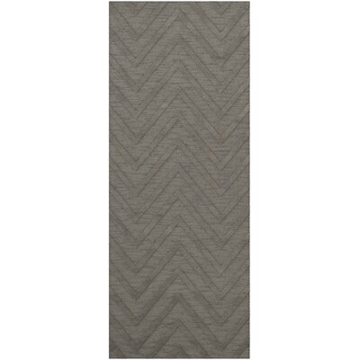 Dover Tufted Wool Silver Area Rug Rug Size: Runner 26 x 8