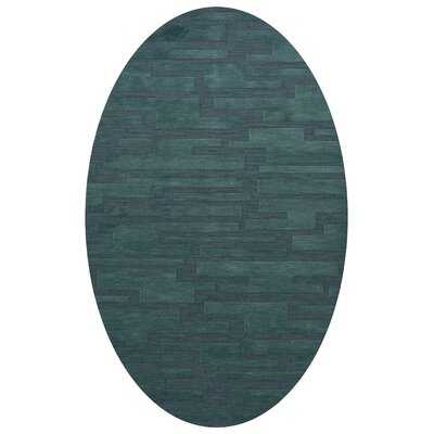 Dover Teal Area Rug Rug Size: Oval 12 x 18
