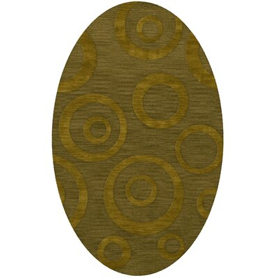 Dover Tufted Wool Avocado Area Rug Rug Size: Oval 4 x 6