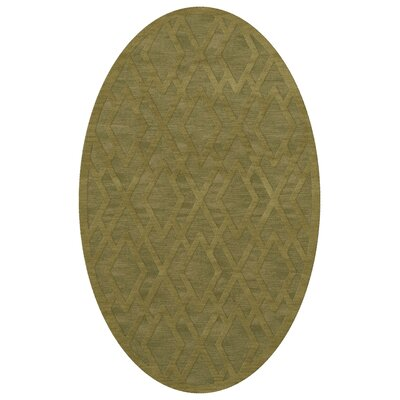 Dover Tufted Wool Pear Area Rug Rug Size: Oval 9' x 12'