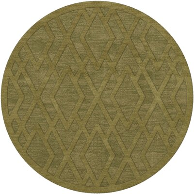 Dover Tufted Wool Pear Area Rug Rug Size: Round 6