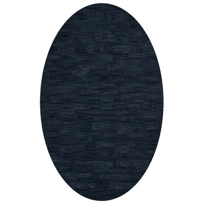 Dover Navy Area Rug Rug Size: Oval 3 x 5
