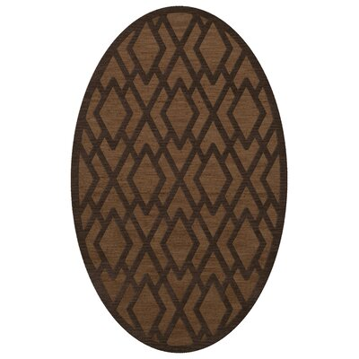 Dover Tufted Wool Caramel Area Rug Rug Size: Oval 12 x 18