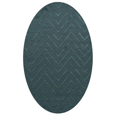 Dover Tufted Wool Teal Area Rug Rug Size: Oval 9 x 12