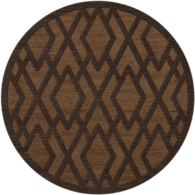 Dover Tufted Wool Caramel Area Rug Rug Size: Round 12