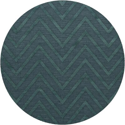 Dover Tufted Wool Teal Area Rug Rug Size: Round 8