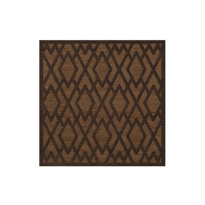 Dover Tufted Wool Caramel Area Rug Rug Size: Square 8