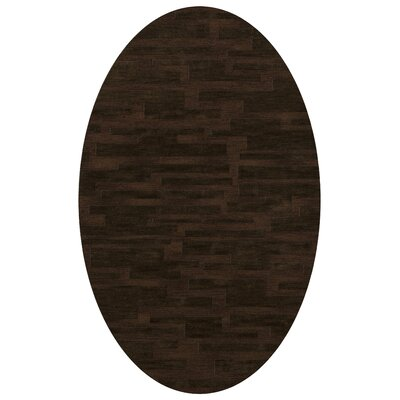 Dover Fudge Area Rug Rug Size: Oval 9 x 12