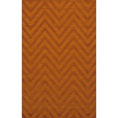Dover Tufted Wool Orange Area Rug Rug Size: Rectangle 4 x 6