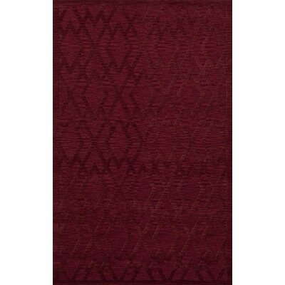 Dover Tufted Wool Rich Red Area Rug Rug Size: Rectangle 4 x 6