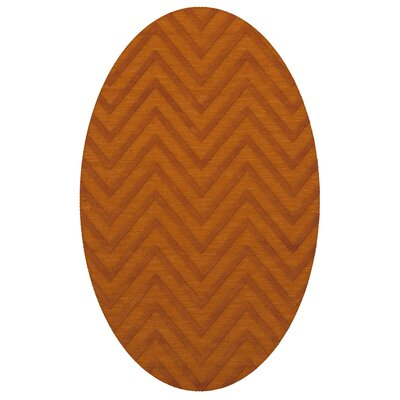 Dover Tufted Wool Orange Area Rug Rug Size: Oval 3 x 5