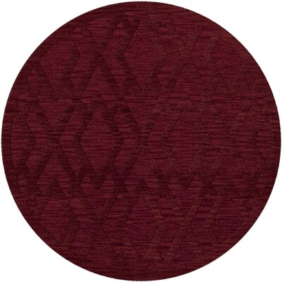 Dover Tufted Wool Rich Red Area Rug Rug Size: Round 4
