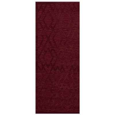 Dover Tufted Wool Rich Red Area Rug Rug Size: Runner 26 x 12