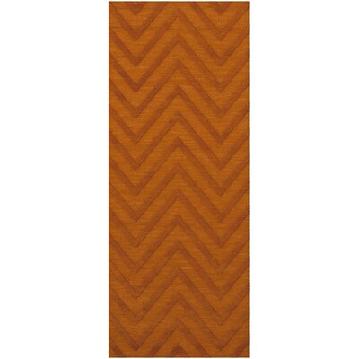 Dover Tufted Wool Orange Area Rug Rug Size: Runner 26 x 8