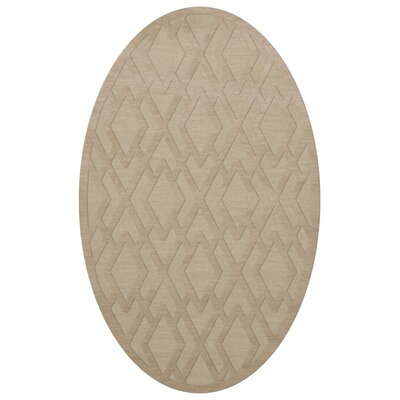 Dover Tufted Wool Linen Area Rug Rug Size: Oval 9 x 12