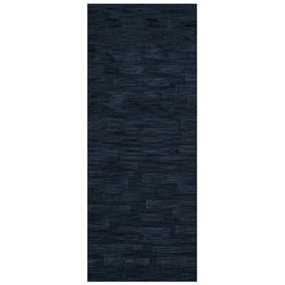 Dover Navy Area Rug Rug Size: Runner 26 x 10