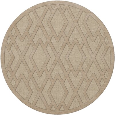 Dover Tufted Wool Linen Area Rug Rug Size: Round 6