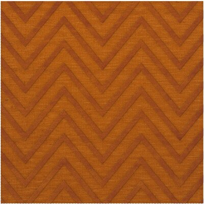 Dover Tufted Wool Orange Area Rug Rug Size: Square 10