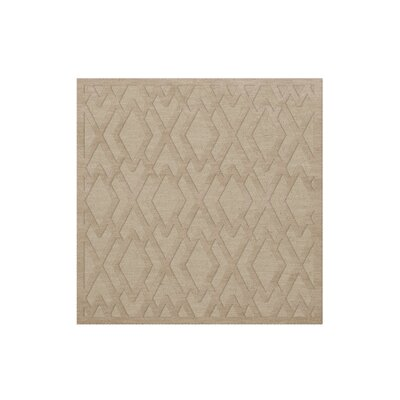 Dover Tufted Wool Linen Area Rug Rug Size: Square 4