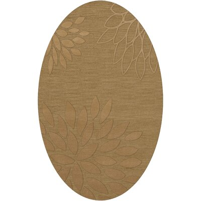 Bao Wheat Area Rug Rug Size: Oval 12 x 18