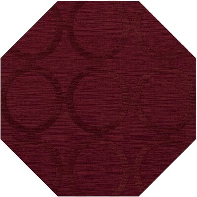 Dover Rich Red Area Rug Rug Size: Octagon 4