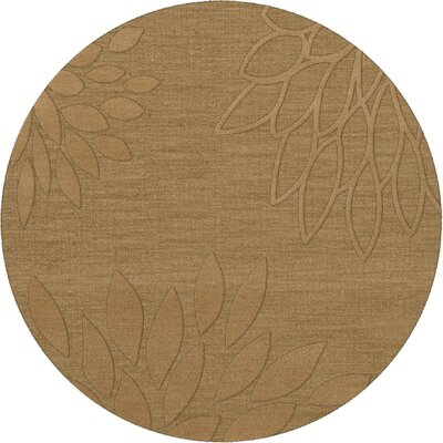 Bao Wheat Area Rug Rug Size: Round 6