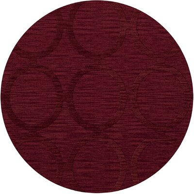 Dover Rich Red Area Rug Rug Size: Round 4